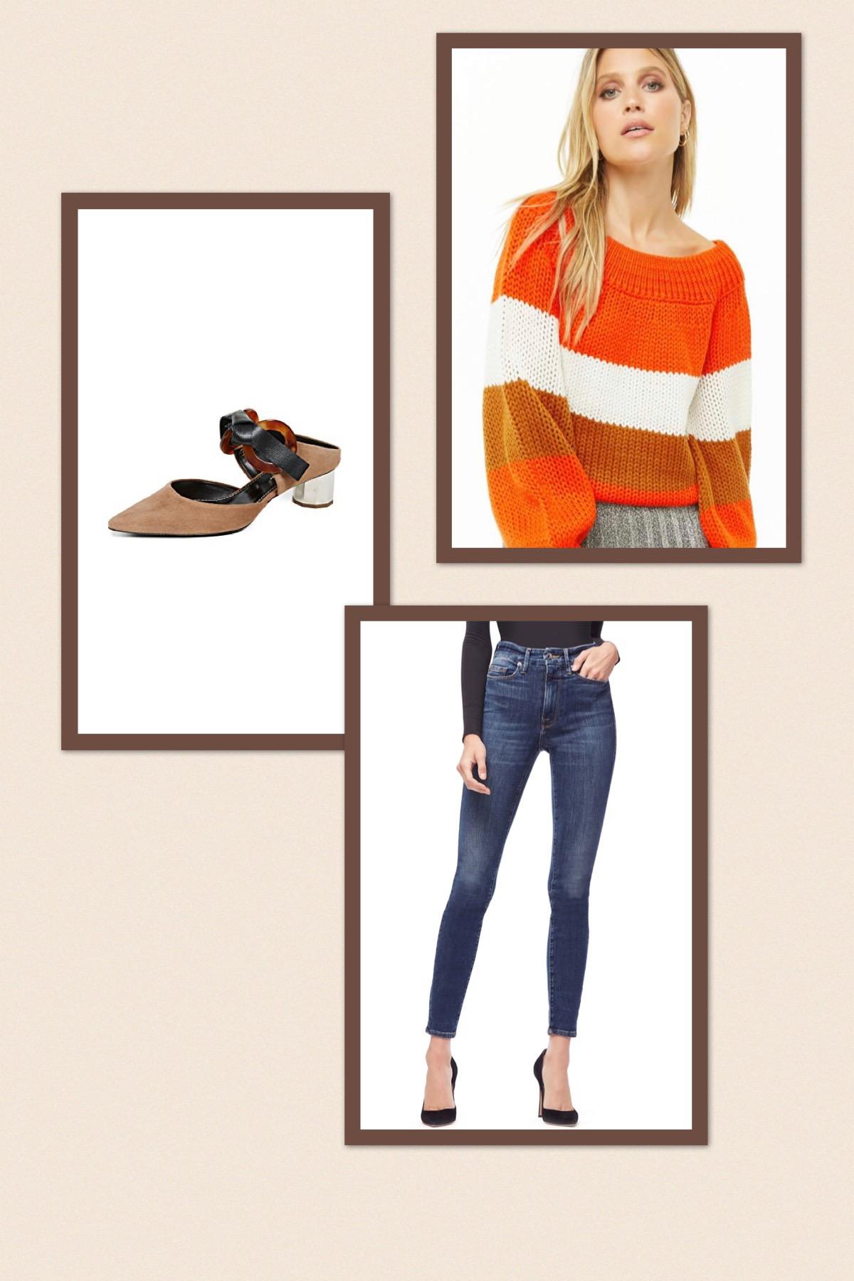 Sweater + Jeans + Heels